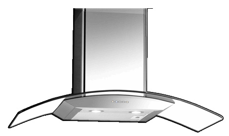 1-EF Kitchen 90cm Designer Cooker Hood CK-Vetro Plus