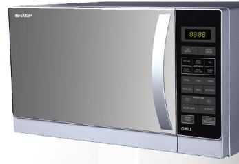 3-Sharp R-72A1(SM)V Compact Grill Microwave Oven