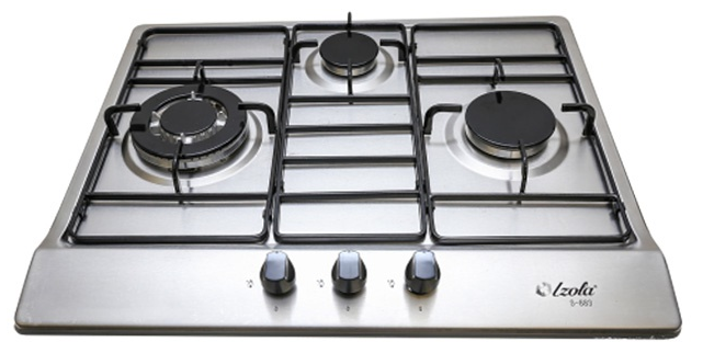 3-Stainless Steel Built-In Hob by Izola