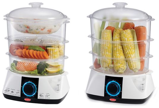 4-EuropAce 3-Tier Food Steamer EFS-A121