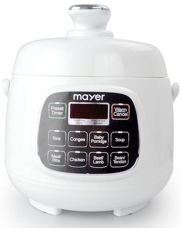 4-Mayer MMPC1650 Mini Pressure Cooker