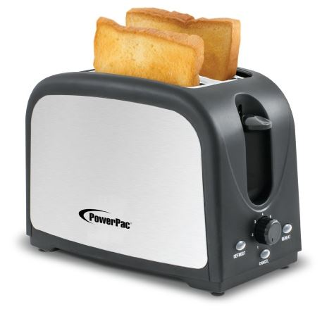 4-PowerPac 2 Slice Pop-up Bread Toaster (PPT03)