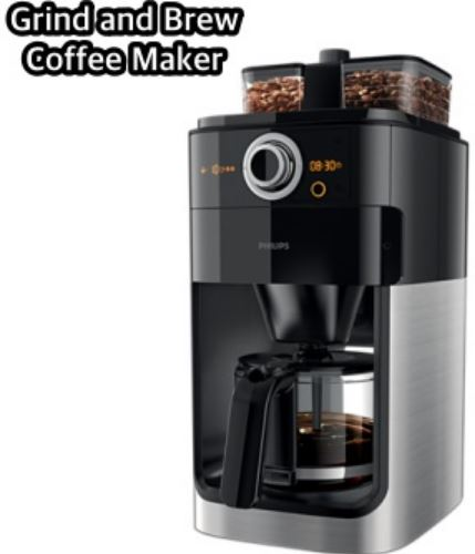 1-Philips Grind and Brew Coffee Maker - HD7762-00