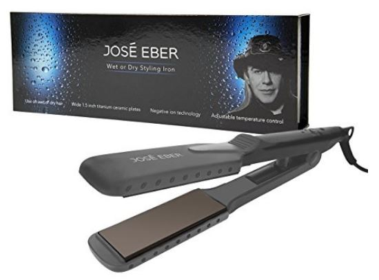 3-Jose Eber - Wet and Dry Flat Iron Straightener Dual Voltage