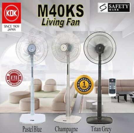 1-KDK M40KS STAND FAN WITH REMOTE CONTROL