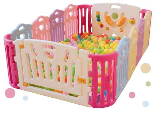 1-Cutebaby Multi-Color Playpen
