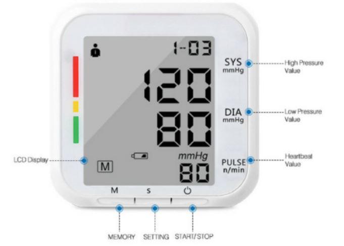 5-Homlly ARM Wrist Blood Pressure Monitor