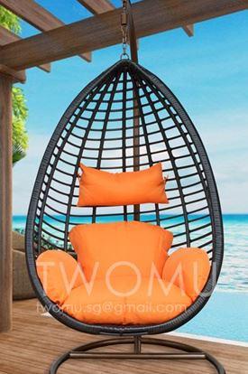 1-Olivette Handwoven Premium Rattan Swing Chair