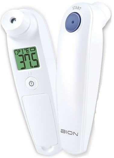 2-BION 2-in-1 Non-Contact Temple Thermometer HB500
