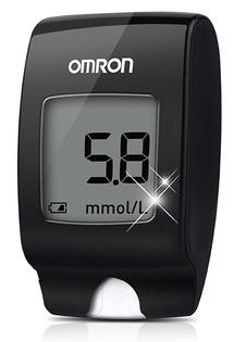 2-OMRON HGM-114 Home Blood Glucose Meter
