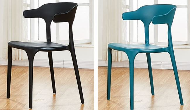 1-2Portion Household Stackable Dining Matte Chair