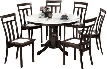 1-Marble-Top Dining Set