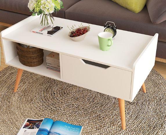 2-Agoramart Scandinavian Wooden Coffee Table