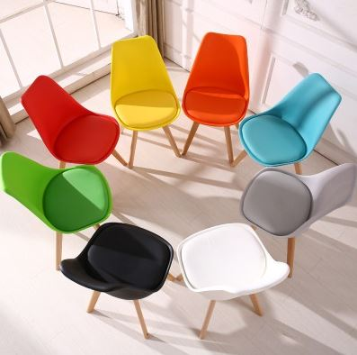 2-AiDeal Simple Nordic Style Dining Chair