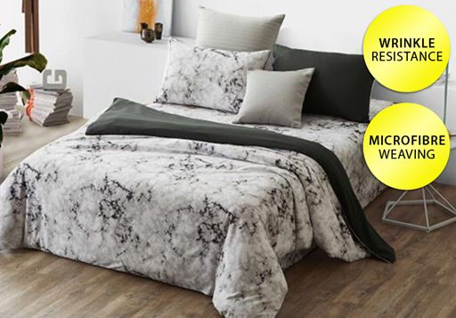 3-Etoz 950 TC Quilt Cover w-Bed Sheet Set