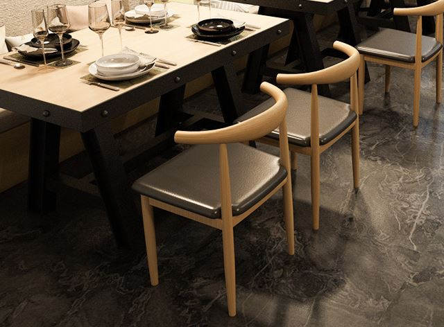 3-Novelty SG Horn Wrought Dining Chair