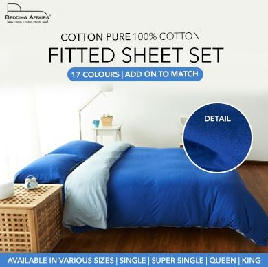 4-Cotton Pure Fitted Bed Sheet Set