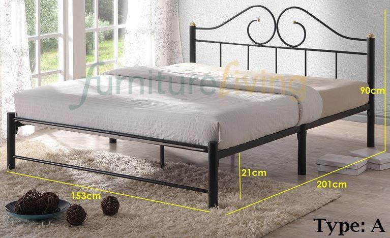4-Furniture Living SG Metal Bedframe